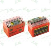 """АКБ   12V 4А   гелевый   (114x71x88, оранжевый, с индикатором заряда, вольтметром)   """"OUTDO"""""""