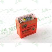 """АКБ   12V 5А   гелевый (высокий)   (119x60x128, оранжевый, с индикатором заряда, вольтметром)   """"OUTDO"""""""