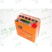 """АКБ   12V 5А   гелевый (высокий)   (120x60x130, оранжевый, с индикатором заряда, 12N5-3B)   """"OUTDO""""   (#RBR)"""