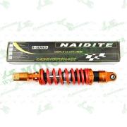 """Амортизатор   GY6   350mm, тюнинговый с подкачкой, внутренный балон  (оранжево-красный)   """"NDT"""""""