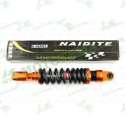 """Амортизатор   GY6   330mm, тюнинговый с подкачкой, внутренный балон  (оранжево-черный)   """"NDT"""""""