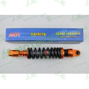 """Амортизатор   GY6, DIO ZX, LEAD   320mm, тюнинговый с подкачкой, внутренный балон   """"NDT""""   (оранжево-черный)"""