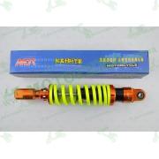"""Амортизатор   GY6, DIO ZX, LEAD   320mm, тюнинговый с подкачкой, внутренный балон   """"NDT""""   (оранжево-лимонный)"""
