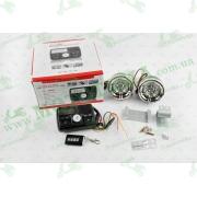 """Аудиосистема 2.0   mod:978   (3"""", черные, сигнализация, МР3/FM/USB/SD, ПДУ, ЖК дисплей)"""