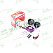 """Аудиосистема 2.0   mod:928С   (2.5"""", черные, сигн., МР3/FM/MicroSD/USB, ПДУ, разъем ППДУ 3.5mm)"""