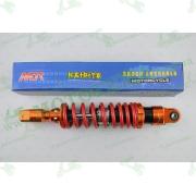 """Амортизатор   GY6, DIO ZX, LEAD   320mm, тюнинговый с подкачкой, внутренный балон   """"NDT""""   (оранжево-красный)"""