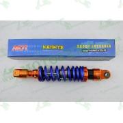 """Амортизатор   GY6, DIO ZX, LEAD   320mm, тюнинговый с подкачкой, внутренный балон   """"NDT""""   (оранжево-синий)"""