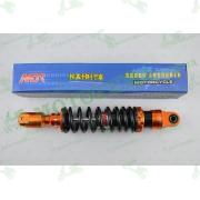"""Амортизатор   GY6, DIO, LEAD   290mm, тюнинговый  с подкачкой, внутренный балон """"NDT""""   (оранжево-черный)"""