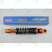 """Амортизатор   GY6, DIO, LEAD   280mm, тюнинговый с подкачкой, внутренный балон   """"NDT""""   (оранжево-черный)"""