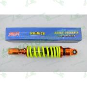 """Амортизатор   GY6, DIO, TACT   270mm, тюнинговый  с подкачкой, внутренный балон """"NDT""""   (оранжево-лимонный)"""