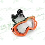 Очки кроссовые   (mod:MJ-11, красные с прозрачным стеклом)