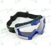 Очки кроссовые   (mod:MJ-1017, синие, прозрачное стекло)