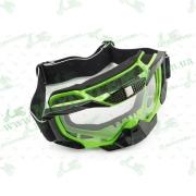 Очки кроссовые   (mod:MJ-1015, салатовые, прозрачное стекло)