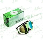 """Очки кроссовые   (mod:1, стекло хамелеон)   """"MONSTER-ENERGY"""""""