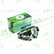 """Очки кроссовые   (mod:1, с прозрачным стеклом)   """"MONSTER-ENERGY"""""""