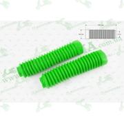 """Гофры передней вилки (пара)   универсальные   L-250mm, d-30mm, D-50mm    (зеленые)   """"KTO"""""""