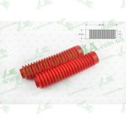 """Гофры передней вилки (пара)   универсальные   L-250mm, d-30mm, D-50mm   (красные)   """"MZK"""""""
