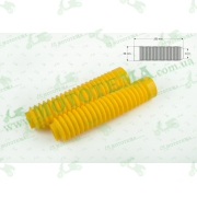 """Гофры передней вилки (пара)   универсальные   L-250mm, d-30mm, D-50mm    (желтые)   """"MZK"""""""