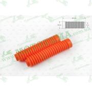 """Гофры передней вилки (пара)   универсальные   L-250mm, d-30mm, D-50mm    (оранжевые)   """"MZK"""""""