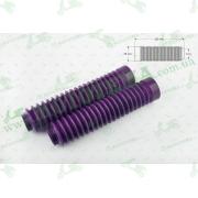 """Гофры передней вилки (пара)   универсальные   L-250mm, d-30mm, D-50mm    (фиолетовые)   """"MZK"""""""