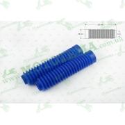 """Гофры передней вилки (пара)   универсальные   L-250mm, d-30mm, D-50mm     (синие)   """"MZK"""""""