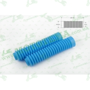 """Гофры передней вилки (пара)   универсальные   L-250mm, d-30mm, D-50mm    (голубые)   """"MZK"""""""