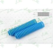 """Гофры передней вилки (пара)   универсальные   L-190mm, d-30mm, D-45mm  (голубые)   """"MZK"""""""