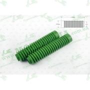 """Гофры передней вилки (пара)   универсальные   L-190mm, d-30mm, D-45mm      (зеленые)   """"MZK"""""""