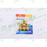 """Ролики вариатора   Honda   16*13   6,5г   (желтые)   """"DONGXIN"""""""