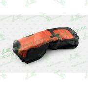 Чехол сиденья Yamaha YBR125, CG,CB,YBR   (черно-красный)