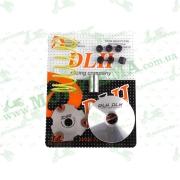 "Вариатор передний (тюнинг)   Suzuki AD100   (+палец, ролики 6шт, пружина торкдрайвера)   ""DLH"""