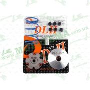 """Вариатор передний (тюнинг)   Honda DIO AF18   (+палец, ролики 6шт, пружина торкдрайвера)   """"DLH"""""""