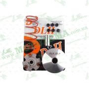 """Вариатор передний (тюнинг)   4T GY6 150  (+палец, ролики 6шт, пружина торкдрайвера)   """"DLH"""""""