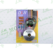 """Вариатор передний (тюнинг)   Suzuki AD100   (ролики латунь 9шт, палец, пружины сцепления)   """"DLH"""""""