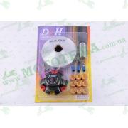 """Вариатор передний (тюнинг)   4T GY6 125   (ролики латунь 9шт, палец, пружины сцепления)   """"DLH"""""""