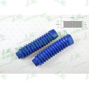 """Гофры передней вилки (пара)   универсальные   L-170mm, d-30mm, D-50mm    (синие)   """"KTO"""""""