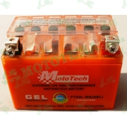 Аккумулятор гелевый MOTOTECH 4АМ YTX4L-BS (Длина 113мм,ширина 68мм,высота 93мм)
