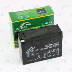 Аккумулятор 12V 4Ah (АКБ) 114x38x86 MUSSTANG YT4B-BS (гелевый)