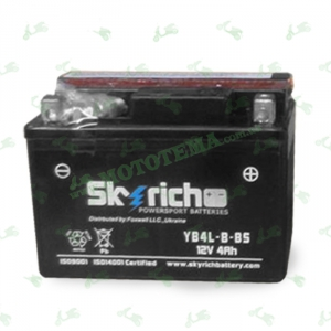 Аккумулятор Skyrich YB4L-B-BS 12V 4 Ah 120*71*91 (Alpha, Delta)