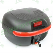 Кофр для мотоцикла (багажник) (430*390*280мм) FXW HF-851 Черный мат