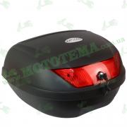 Кофр для мотоцикла (багажник) (595*440*315мм) FXW HF-881 Черный на два шлема