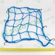 Сетка багажника, паук 'KOMATCU' синяя