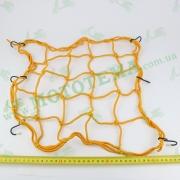 Сетка багажника, паук 'KOMATCU' желтая
