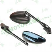 Зеркала заднего вида металл. ZX-H3148 М8-М10 чёрная ножка
