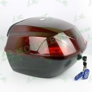 Кофр для мотоцикла (багажник) FXW HF-811 Music Box Черный / красный