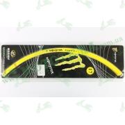 Наклейка на обод колеса R17 светоотражающая, жёлтая 'MONSTER ENERGY'
