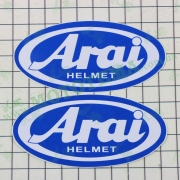 "Наклейка логотип ""ARAI"" (9x4,5см, синяя) (#1871)"