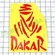 """Наклейка логотип """"DAKAR"""" (9x11см, красная) (#HCT20011)"""