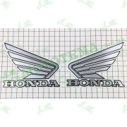 Наклейка логотип (Honda 12x9см, 2шт) (#1855A)