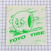 "Наклейка логотип ""TOYO"" (11x10см, зеленая) (#0727)"